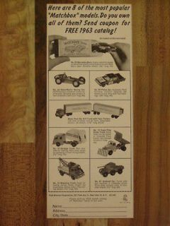 1963 MATCHBOX LESNEY ASTON MARTIN POLICE CAR TOW TRUCK SNOW PLOW AD M