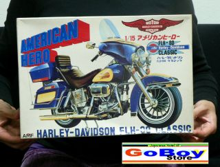 AMF HARLEY DAVIDSON FLH 80 CLASSIC 1/15 MODEL KIT FUJIMI JAPAN