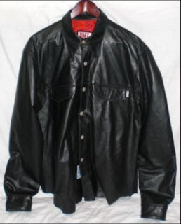 bill wall leather shirt 1 first edition 2010 bwl large