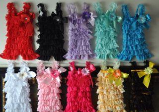 wholesale u pick *5* 3set Baby Girl Lace Posh Petti Ruffle Rompers