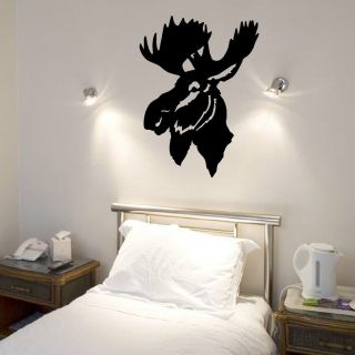 moose head wall art vinyl sticker more options exact colour