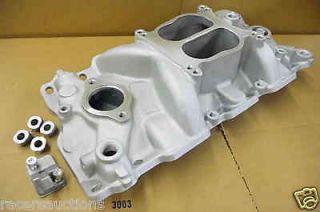 SBC Chevy Aluminum Intake Manifold 327 350 1955 1995 V8 Cyclone Dual