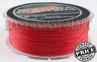PE DYNEEMA BRAID FISHING LINE 10LB 300M SPECTRA RED 328 YARD BRAIDED