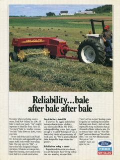 1989 ford new holland 326 hayliner baler tractor ad time