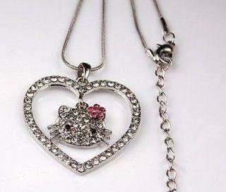 Tarina Tarantino Pink Head Hello Kitty rhinestone necklace 2005 kawaii
