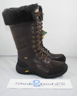 UGG Adirondack Tall Boot Obsidian OBS Weatherproof Sz 6 8 NEW