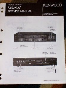 kenwood ge 57 graphic equalizer service parts manual time left