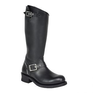 Harley Davidson SAPPHIRE Womens Black Leather Pull On Tall Boots