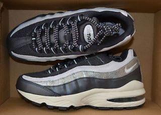 NIKE WOMENS AIR MAX 95 WM SHOES SIZE 9 metallic white 336620 005
