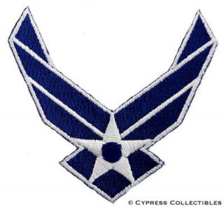 united states air force embroidered iron on patch usaf time
