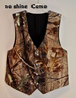 new camo wedding vest mans custom made usa