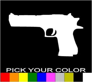 DESERT EAGLE GUN DECAL STICKER VINYL CAR LAPTOP CELL WINDOW .50 CAL