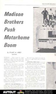 1971 international dodge ungers motorhome rv brochure time left $