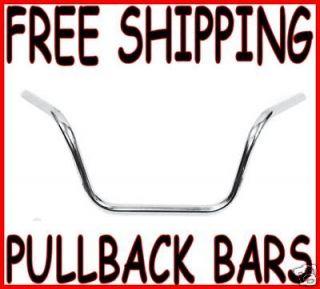 10 chrome mini pullback ape hangers handlebars harley time left