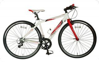 tour de france 56cm medium frame mens womens white hybrid road bike