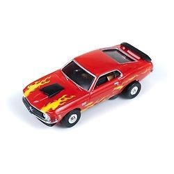 Thunderjet R8 70 Ford Mustang Boss 429 (Red) HO Scale Slot Car