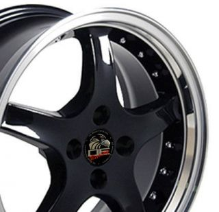 one rim 17 black 4 lug rims fit mustang one