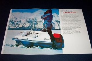 72 POLARIS CHARGER SS SNOWMOBILE POSTER tx S/S vintage sno machine
