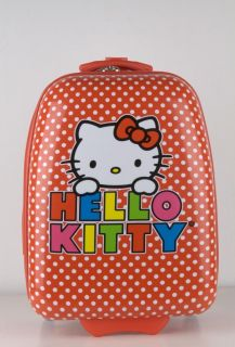 hello kitty red and white dots abs luggage 2436 time
