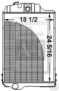 new john deere radiator fits 2940 2950 3040 3140 time