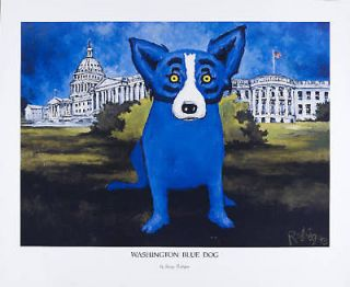 george rodrigue blue dog in Art from Dealers & Resellers