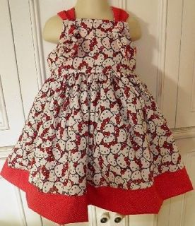 Hello Kitty Packed Faces Boutique Dress Red Pink Size 2T 3T 4T 5 6