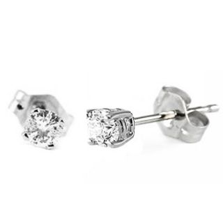 15 carat round baby diamond earrings studs 14k gold no jewelry box