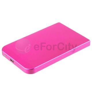 Pink Duragble USB 2.0 2.5 SATA HDD Hard Disk Drive Enclosure 2.5 inch