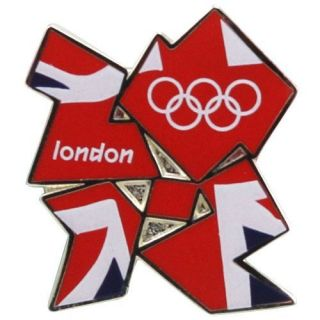 London 2012 Olympics Union Jack Flag Pin