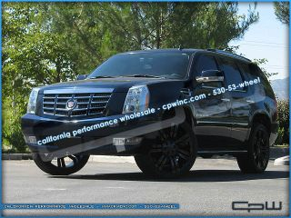 24 inch Gloss Black Cadillac Escalade Wheels Rims ESV Ext Marcellino