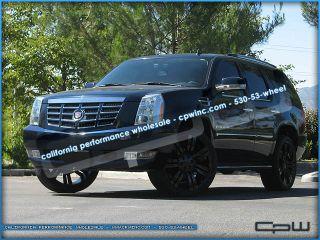 24 inch Gloss Black Cadillac Escalade Wheels Rims ESV Ext Marcellino