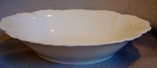 White Haviland Limoges Porcelain China Ranson Pattern Oval 10