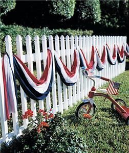 30 Foot Long Patriotic American Flag Banner Swag 4th of July Decor New