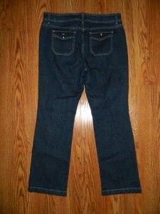 Jones New York Sport Petite Womens Dark Wash Jeans Size 12P