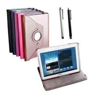 360 Rotation Leather Case Cover /stylus for Samsung Galaxy Note 10.1