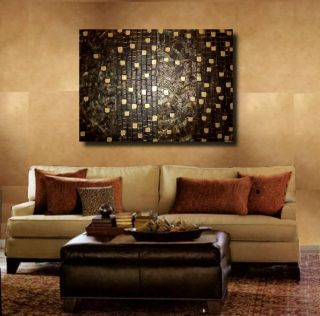 LC Art Painting Modern Abstract Impasto Texture Gold