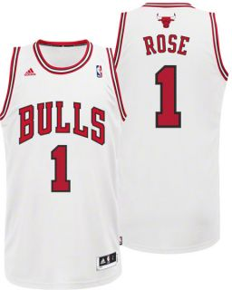 Derrick Rose White Adidas Revolution 30 Swingman Chicago Bulls Youth
