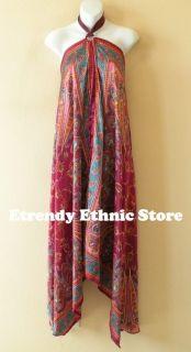 1D45 Versatile Silk Multi Wear Scarf Long Maxi Dress Skirt Maternity