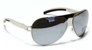 Womens Fashion White Metal Frame Aviator Revo Mirror Lens Sunglasses