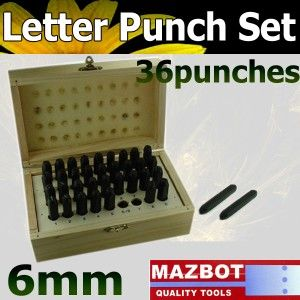New Letter Number Steel Metal Die Stamp Punch Tool Set