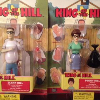 The Hill Hank Peggy Hill Action Figure Toy Toycom 2002 Set MI P