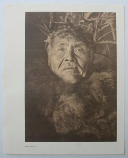 Print Edward s Curtis The Whaler Indian Native American