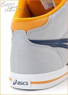 Brand New Asics Aaron MT CV Shoes Light Grey Navy H009N 1350 111