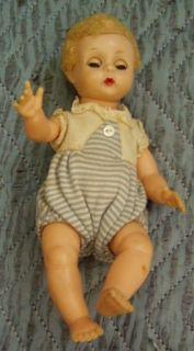 Madame Alexander BABY GENIUS doll Clothes Tag Drink Wet Sleep Eyes