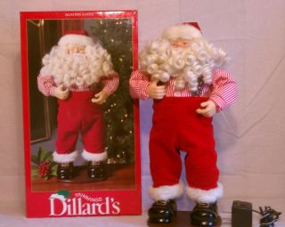 Dillards Trimmings Dancing Santa Jingle Bell Rock In Box 16 Inches