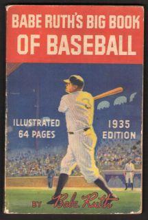 BABE RUHs Big Book of Baseball * 1935 FIRS EDIION * NICE BOOK