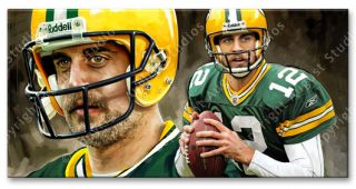 Aaron Rodges Green Bay Packers NFL Football RARE New Signed Print New
