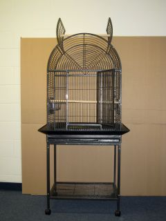 26x20 Parrot Bird cage Cages birds stand perch WB232k black vein