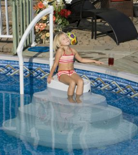 NEW MAJESTIC POOL STEPS ABOVE GROUND SWIMMING POOLS WITH HANDRAIL EZ