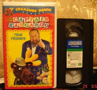 All New Captain Kangaroos True Friends VHS Video Fox Kids Treasure